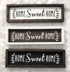 Wood Sign Wooden Sign Home Sweet Home Galley Wall Housewarming Gift Farmhouse Si… - Wood Diy Home Wooden Signs, Diy Wood Signs, Vinyl Signs, Home Decor Signs, Wooden Sign Sayings, Homemade Wood Signs, Country Farmhouse Decor, Rustic Decor, Farmhouse Signs