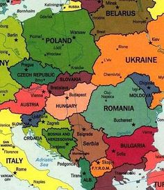 Colorful world maps google search afumc pinterest poland eastern europe hungary czech republic slovakiabulgaria romania poland and austria gumiabroncs