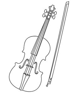 Super Coloring Pages, Colouring Pages, Coloring Pages For Kids, Coloring Books, Coloring Sheets, Violin Drawing, Violin Art, Violin Music, Music Paper