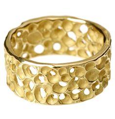 rebecca steiner - wide gold ring