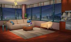 anime background night living apartment episode backgrounds scenery int interactive rooms animation cartoon bedroom episodeinteractive bought 1136 kitchen went today