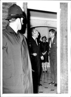 1961 John F. Kennedy and British Prime Minister MacMillan.