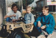 The Walker brothers: Paul giving his youngest brother, Cody, his first driving lesson while Caleb assists. Cody Walker, Paul Walker Family, Rip Paul Walker, Walker Brothers, Walker Bros, 2 Brothers, Paul Walker Photos, Family Photo Album, Brotherly Love