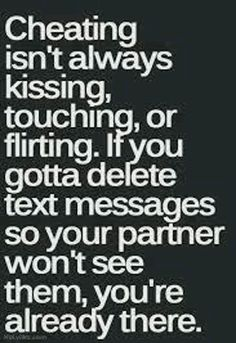 Is texting another guy cheating