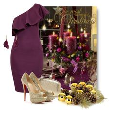 """""""♥New Year 2017♥"""" by k-condratova ❤ liked on Polyvore featuring Ted Baker, Halston Heritage and Christian Louboutin"""