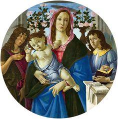 Madonna z Dzieciatkiem - Madonna na obrazach Botticellego – Wikipedia, wolna encyklopedia