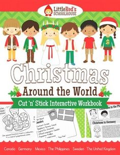 Christmas Around The World Interactive Packet - have your students create an interactive booklet about Christmas in : the United Kingdom, Germany, the Philippines, Canada, Mexico and Sweden. Also includes interactive worksheets to reinforce what students learn and a set of post cards for students to fill in (summarize) about each holiday. $