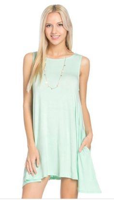 Sleevless T-Shirt Dress