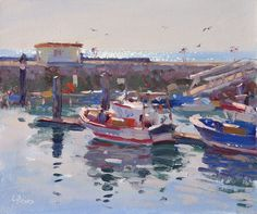 Lena Rivo's Painting Blog: Clear Morning at the Setubal Docks