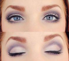 Soft purple smokey eye