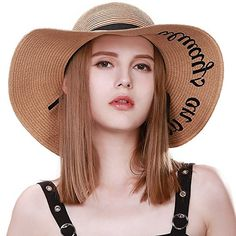 f294a155 Womens Floppy Summer Sun Beach Crushable Panama Strw Hats Wide Brim SPF 50  Foldable Packable 57cm Beige: Amazon.co.uk: Clothing