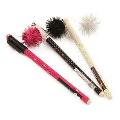 Splode Pendant Black Ink Gel Pen (cores aleatórias) – BRL R$ 2,57