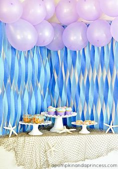 LOTS OF MERMAID PARTY IDEAS AT THE PINNER'S BOARD!  The Little Mermaid Party Ideas - Would be Fun for Talin someday :)