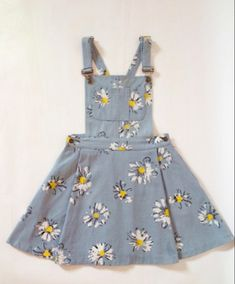 453793edc8a There are 7 tips to buy this dress  sunflower daises overalls denim overall  skirt clothes floral suspenders overall floral overalls pinafore daisy blue  cute ...