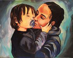 VIVID Heart-Warming Family Portraits by FujiDreskinArt on Etsy