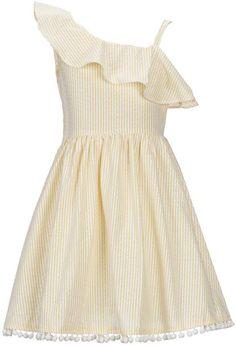 c650209ca90 Rare Editions Big Girls 7-16 Seersucker Fit   Flare Ruffle Dress