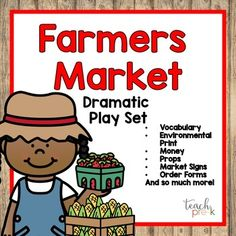 Learn Why You Should Shop At Local Farmers Market Dallas Locations Dramatic Play Area, Preschool Classroom, Classroom Ideas, Kindergarten Centers, Project Based Learning, Lessons For Kids, Childhood Education, Farmers Market, Early Childhood