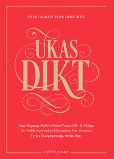 Ukas dikt (Innbundet) Calm, Cover, Books, Libros, Book, Book Illustrations, Libri