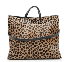 simple leopard tote by clare vivier