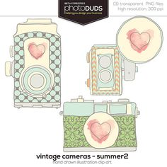 Shop for on Etsy, the place to express your creativity through the buying and selling of handmade and vintage goods. Quotes About Photography, Vintage Photography, Camera Clip Art, Devine Design, Retro Camera, Creative Gift Wrapping, Camera Hacks, Vintage Cameras, Cute Images