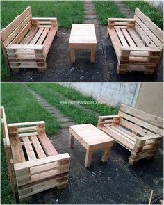 You would simply love this so artistic designed wood pallet table and benches that is so remarkable looking. Over the top side it do accompany the taste of simple arrangement of the wood pallet planks stacking that makes it come about to be much stylish and favorable attractive looking.