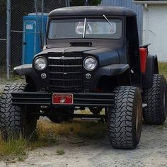 Trucks, Jeeps, SUV's, bikes and quads! We don't own any pictures unless stated.Want your pictures featured on our page? DM them to us! Old Pickup Trucks, Jeep Pickup, Jeep Truck, 4x4 Trucks, Cool Trucks, Custom Trucks, Lifted Trucks, Old Jeep, Jeep Cj