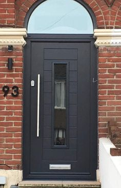 Our modern door styles such as this Fuji design paired with our popular Anthracite & Composite Double Glazed Front Doors | Safestyle UK | church bathroom ...
