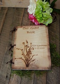 Wedding Guest Book or Words of Wisdom Book Rustic by WildFireFlies, $45.00