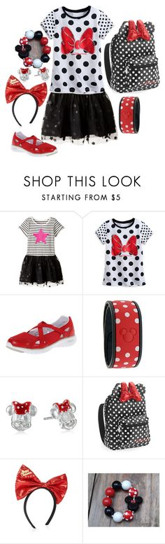 """""""minnie mouse touch"""" by sterlingkitten on Polyvore featuring The Children's Place, Disney, Propét and Accessorize"""