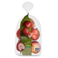 Organic Gala Apples Waitrose PD Freezing Vegetables, Fresh Fruits And Vegetables, Apple Packaging, Food Packaging, Vegetable Shop, Food Retail, Apple Fruit, Organic Fruit, Private Label