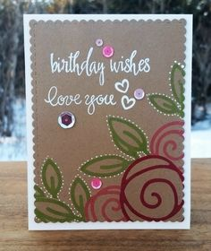 Sheena Joy - Birthday Card For My Mom (using SSS Single Roses Wafer Die)