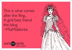 This is what comes after the fling... A girls'best friend the bling ~MiaMiddonte