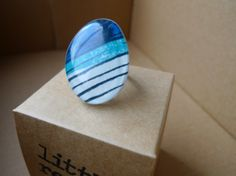blue stripey ring by me!