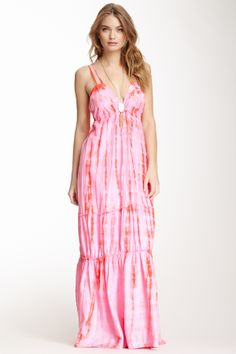 Tie Dye Maxi Dress: so comfy for pregnancy or practically anytime during the summer!