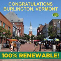 Congratulations to the city of Burlington, Vermont in the US for going 100% renewable!  The city of 42,000 is now fully powered by wind, water and biomass.  LIKE if you support Burlington's decision and want to see many more cities make the same one.  (Photo via namesacrossnations.blogspot)