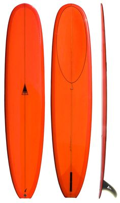 """Nose rider (9'): Tail - 15"""" 1/2 Width - 22"""" 7/8 Nose - 18"""" 1/2 Thickness - 3"""" 1/16"""