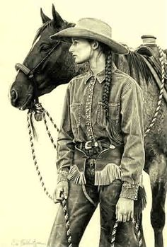 """Best known for her Western portraits, Carrie Ballantyne began drawing as a child -  """"anything that would hold still long enough""""."""