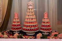 pink cupcake towers......babyshower for girl