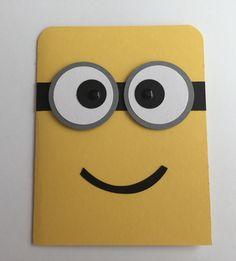Handmade Minion Birthday Card, Happy Birthday, Minion by JuliesPaperCrafts on Etsy