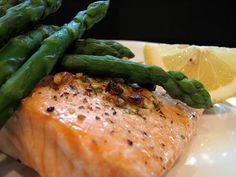 Grilled Salmon with Hazelnut Butter  