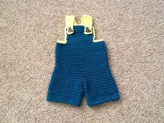 Infant Overalls - size 3 months - free crochet pattern
