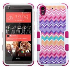 Insten Hot / Purple Camo Wave Tuff Hard PC/ Silicone Dual Layer Hybrid Rubberized Matte Case Cover For HTC Desire 626/ 626s