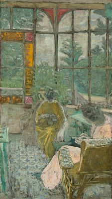 La véranda du Coadigou à Loctudy, Marcelle Aron et Marthe Mellot by Edouard Vuillard