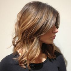 Blowout on mid-length hair. Just gorgeous.