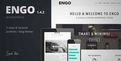 Download and review of Engo - Smart & Minimal WordPress Theme, one of the best Themeforest Creatives themes