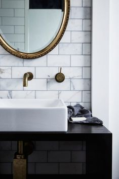 THE POOL HOUSE - BYRON BEACH ABODES / INTERIOR MUSINGS — VIENNA WEDEKIND Black Marble Bathroom, Carrara Marble Bathroom, Byron Beach, Timeless Bathroom, Tadelakt, Scandinavian Home, Bathroom Fixtures, Bathroom Sinks, Bathroom Inspiration