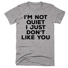 I'm Not Quiet I Just Don't Like You T-shirt