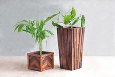 Beautiful large planter for the outdoor patio and garden enthusiast made entirely from sustainably harvested solid tropical hardwoods. Built to last.