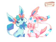 Render Pokemon - Renders Pokemon Givrali Nymphali Mignon Noeux Duo Heureux