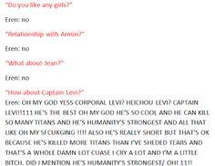 um ... Eren has a crush on Levi ?
